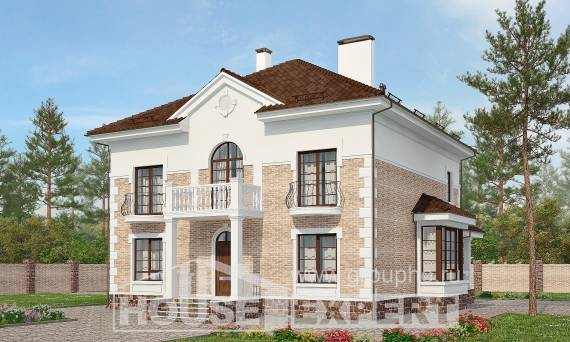 220-008-R Two Story House Plans, spacious Home Plans, House Expert