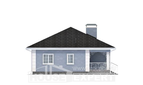 100-001-R One Story House Plans, modern Home House,