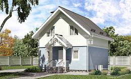 095-002-R Two Story House Plans with mansard, the budget Models Plans,