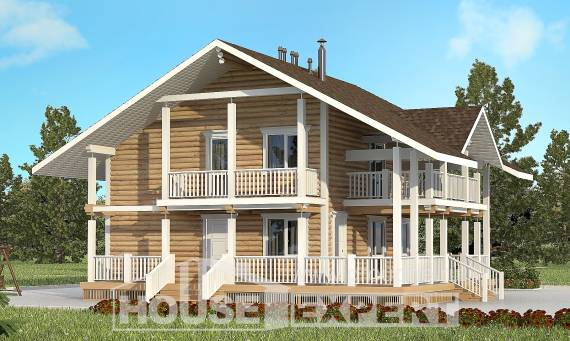 130-001-R Two Story House Plans with mansard roof, beautiful House Blueprints