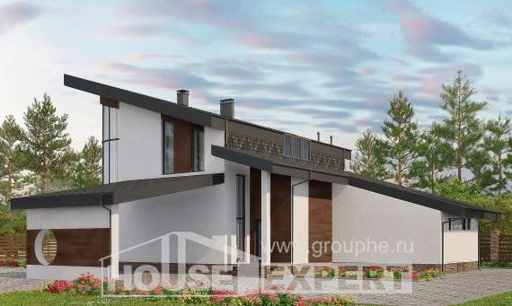 230-001-R Two Story House Plans with mansard, luxury Floor Plan, House Expert