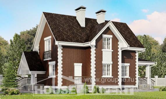 190-003-L Two Story House Plans and mansard and garage, spacious Architect Plans,