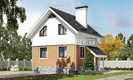 100-005-L Two Story House Plans and mansard, a simple Plans To Build