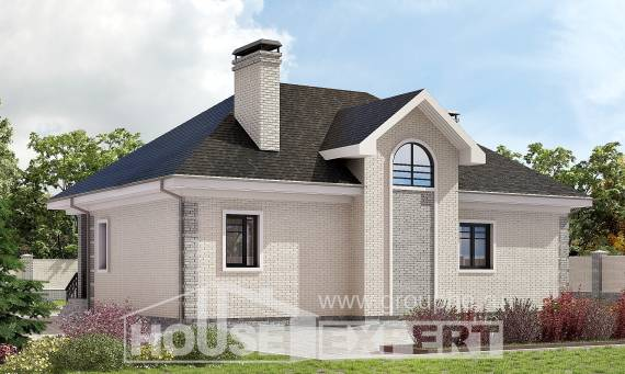 150-013-R Two Story House Plans with mansard roof, inexpensive Villa Plan,