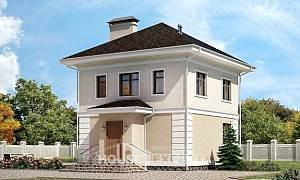 090-003-L Two Story House Plans, compact House Plan