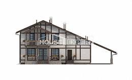 250-002-L Two Story House Plans with mansard roof and garage, best house House Online,