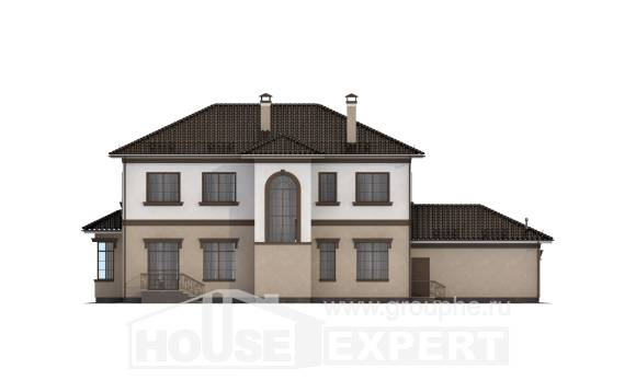 290-004-L Two Story House Plans and garage, classic Blueprints,