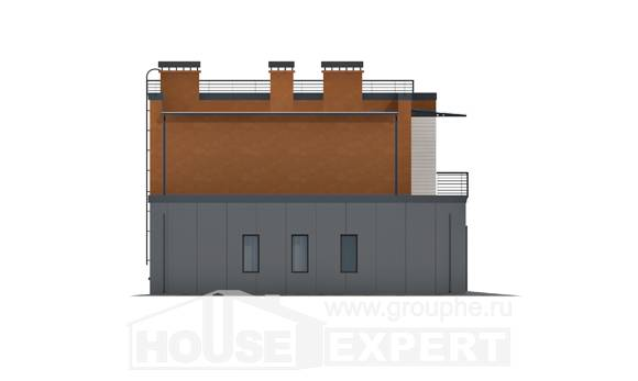 260-002-L Two Story House Plans with garage in front, big Villa Plan