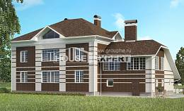 505-002-L Three Story House Plans with garage in back, a huge Models Plans,