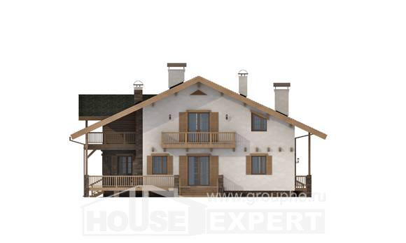 250-003-L Two Story House Plans with mansard, beautiful Online Floor,