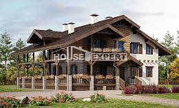400-004-R Three Story House Plans and mansard with garage under, spacious Cottages Plans