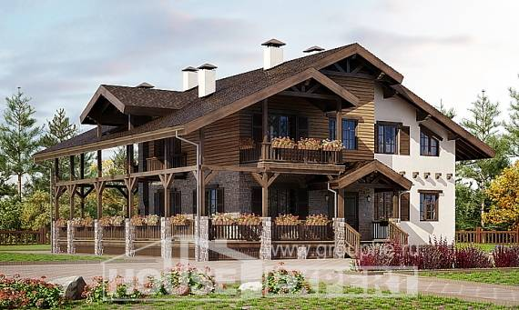 400-004-R Three Story House Plans with mansard with garage, cozy Home Plans,