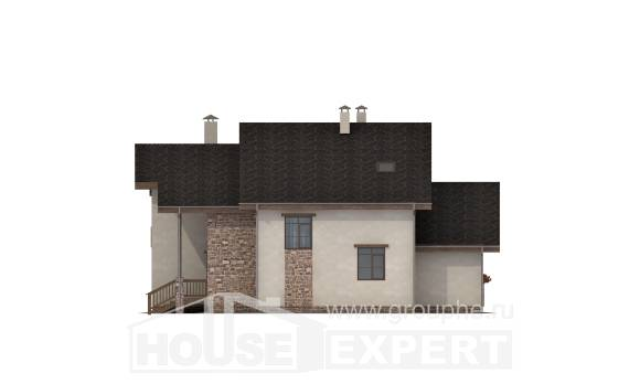 240-003-L Two Story House Plans with mansard roof, a simple Home Plans,