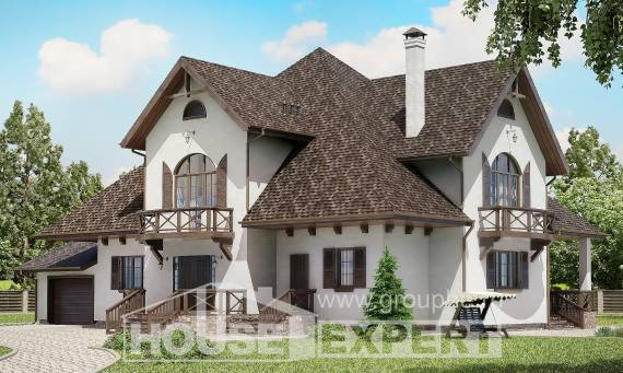 350-001-L Two Story House Plans and mansard and garage, spacious House Online,