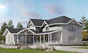 340-004-R Two Story House Plans, a huge Home Plans