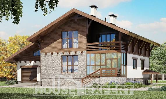 420-001-R Three Story House Plans with mansard roof and garage, luxury Home Blueprints, House Expert