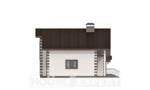 150-003-L Two Story House Plans with mansard roof with garage, best house Plans Free, House Expert