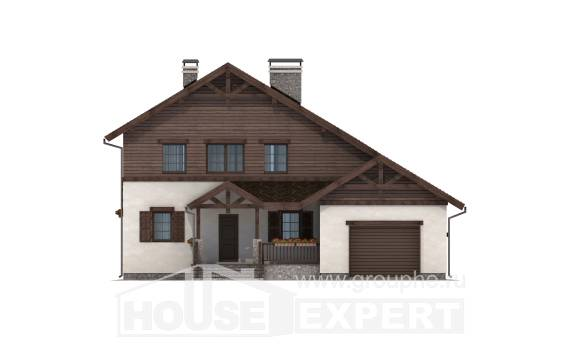 200-003-R Two Story House Plans with garage, average Architects House,