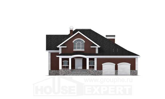 600-001-R Three Story House Plans and mansard with garage, luxury House Building, House Expert