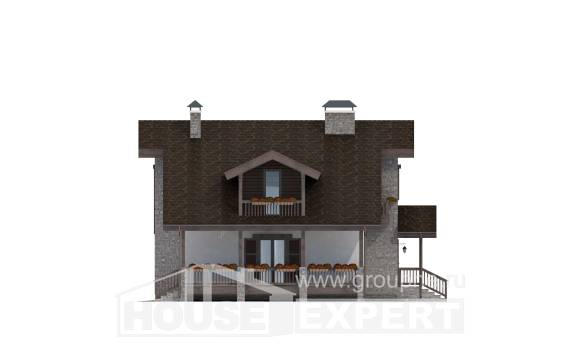 150-004-L Two Story House Plans with mansard, the budget Home House,