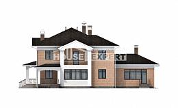 520-001-R Three Story House Plans, a huge Blueprints,