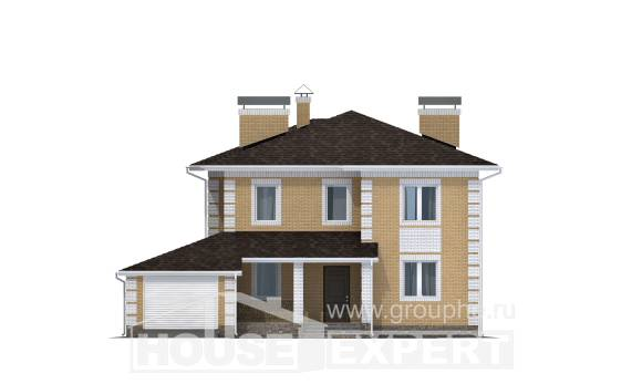 220-006-L Two Story House Plans with garage in back, best house Design Blueprints,