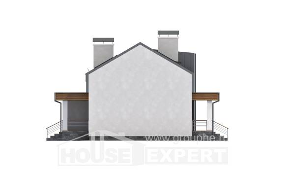 120-004-R Two Story House Plans with mansard, the budget House Building,