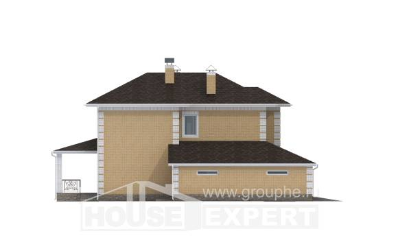 220-006-L Two Story House Plans with garage in front, a simple Building Plan,