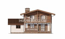 200-011-R Two Story House Plans with mansard roof, cozy House Online, House Expert