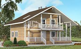 130-001-R Two Story House Plans and mansard, the budget Custom Home Plans Online