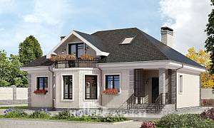 150-013-R Two Story House Plans with mansard, available Architectural Plans