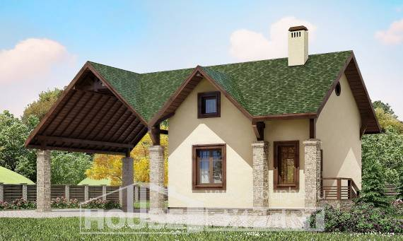 060-001-L Two Story House Plans and mansard with garage in back, cheap Design House,