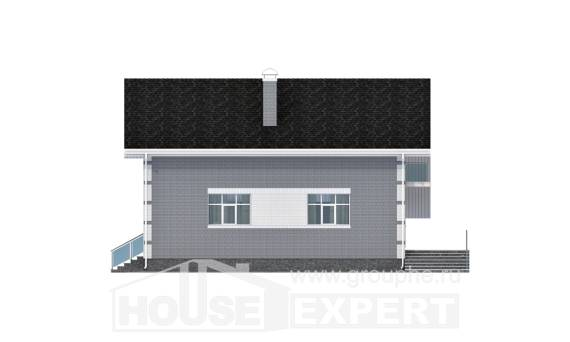 190-006-L Two Story House Plans and mansard with garage under, modern Floor Plan,