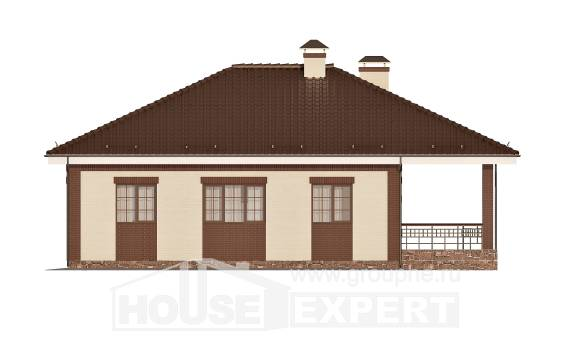160-015-R One Story House Plans with garage, inexpensive Woodhouses Plans,