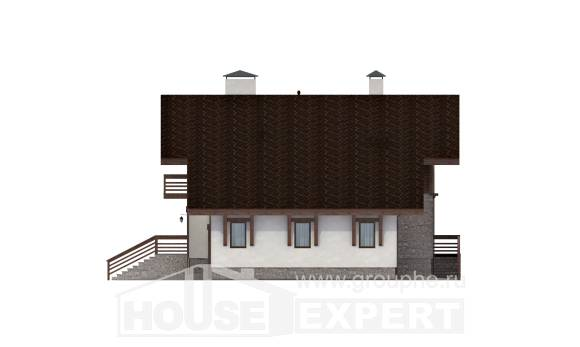 420-001-R Three Story House Plans with mansard roof with garage, best house Tiny House Plans, House Expert