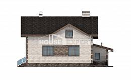 245-005-R Two Story House Plans with mansard roof with garage, modern House Online, House Expert
