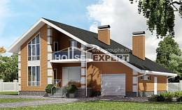 190-006-R Two Story House Plans and mansard with garage under, classic Home House,