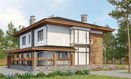 305-001-R Two Story House Plans with garage, modern Plans Free,