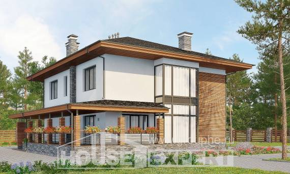 305-001-R Two Story House Plans with garage, modern Architect Plans,
