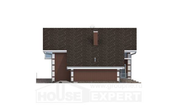 180-001-L Two Story House Plans and mansard and garage, a simple House Building