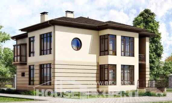 300-006-R Two Story House Plans with garage in front, a huge Drawing House,