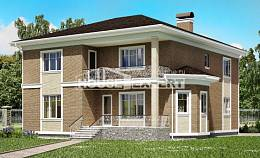 335-002-R Two Story House Plans and garage, a huge Architectural Plans,
