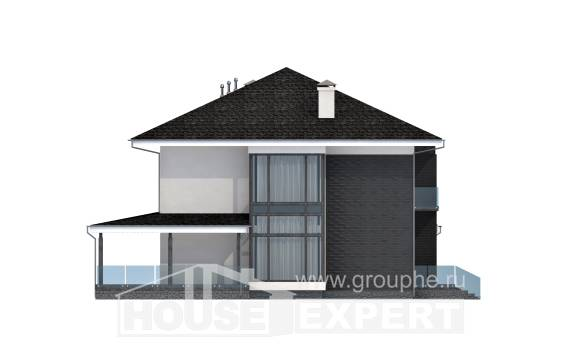 245-002-R Two Story House Plans with garage in front, beautiful House Online,