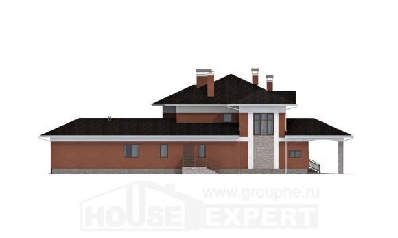 400-002-L Two Story House Plans with garage, a huge Custom Home