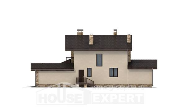 220-001-L Two Story House Plans and mansard with garage in front, a simple Planning And Design