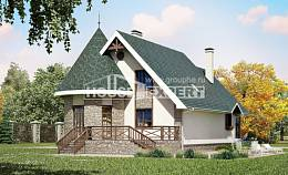 170-003-L Two Story House Plans with mansard, beautiful Timber Frame Houses Plans, House Expert