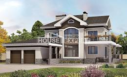 365-001-L Two Story House Plans with garage in back, classic Planning And Design