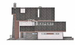 270-003-L Two Story House Plans with mansard and garage, classic Architects House,