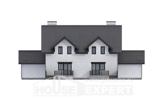 290-003-R Two Story House Plans with mansard with garage, classic Custom Home Plans Online,