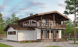 180-018-L Two Story House Plans with mansard and garage, available House Planes, House Expert